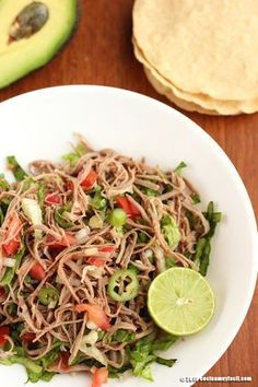 Salpicón de res. Receta | Cocina Muy Fácil | http://cocinamuyfacil.com
