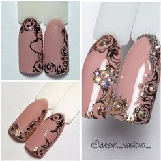 Step by step manicure - Nails Ideas & Nails Diy Crazy Nails, Fancy Nails, Diy Nails, Cute Nails, Pretty Nails, Nail Polish Art, Gel Nail Art, Acrylic Nails, Nail Art Modele