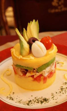 Causa (potato dish) Peruvian food