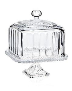 Godinger Silver Art Co Belmont Domed Cake Stand Cake Plate With Dome, Cake Stand With Dome, Cake Dome, Cake And Cupcake Stand, Crystal Cake Stand, Vase Deco, Cake Carrier, Vintage Cake Stands, Vintage Cake Plates
