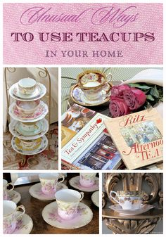 Unique ways to display teacups around your home | Tea cup display ideas | Vintage china in home decor | designthusiasm.com