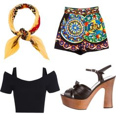 cool by alpa-jhala on Polyvore featuring polyvore fashion style Dolce&Gabbana Yves Saint Laurent Hermès