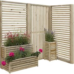An attractive planter which can also be used as 2 separate planters giving you the option to move it around your garden to make different features.