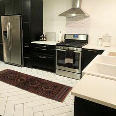 Ikea Laxarby Cabinets: black & white ikea kitchen