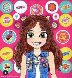 Luna I love you Karol! I hope you like this drawing for you! I will go see Soy Luna on Disney Channel Love my Karolista family! Disney Drawings, Cartoon Drawings, Cute Drawings, Cute Girl Drawing, Drawing For Kids, Drawing Ideas, Kawaii Cute, Kawaii Girl, Disney Films