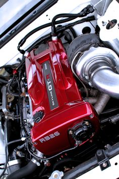 Engine shot of a Nissan Skyline GT-R at a race during the 2011 season. Nissan Gtr R34, R34 Gtr, Nissan Gtr Skyline, Stance Nation, Lamborghini, Bugatti, Mustang, Volkswagen, Exotic Cars