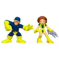 Marvel Superhero Squad Series 11 Mini 3 Inch Figure 2Pack Cyclops  Marvel Girl *** Continue to the product at the image link.