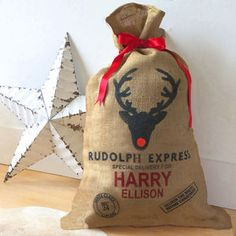 I've just found Personalised Christmas Sack. Imagine your child's face when they wake up Christmas morning to find their personalised sack delivered by Father Christmas on the Rudolph Express. Pre Christmas, Father Christmas, Christmas Morning, Christmas Presents, Christmas Stockings, Christmas Decorations, Christmas Ornaments, Holiday Decor, Christmas Ideas