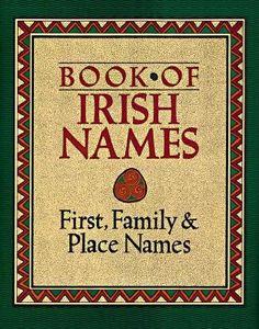 Book of Irish Names by Ronan Coghlan