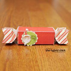 Tootsie Box and a 3-D Santa Sticker - Used this template: http://shop.thedigitalpress.co/Tootsie-Box.html