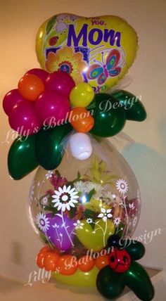 Stuffed balloon, Mother's Day theme. gift in a balloon