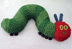 The Very Hungry Caterpillar 1st birthday cake
