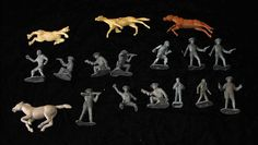 Toy+Soldier+&+Horses+Vintage+Play+Set+Figures+marx++ #playsetfigures #playsets #vintageplaysets #vintagetoys #toys
