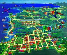 Puerto Jimenez tourist map