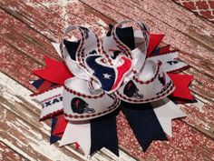 Texan Bow, Hair Bow, Boutique  style, Hairbow on Etsy, $6.00 #texanfans