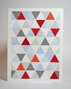 Triangle quilt design card, Carson Too