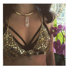 This is a gorgeous idea! Sienna #Metal #Bra: Claudia Pink, $100, Buy it Here