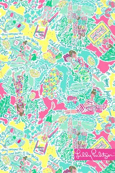 Lilly Pulitzer wallpaper In the Beginning