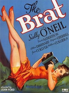 She is probably reading a Bad Book.  The Brat (1931) [Directed by John Ford!]