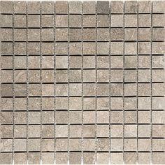 "Sea Grass 1"" x 1"" Stone Mosaic Tile Honed"