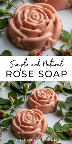 Make these nourishing rose facial soaps in an afternoon and use the same day. Made with all natural ingredients essential oils and an easy-to-use soap base Rose Geranium Essential Oil, Essential Oils, Face Soap, Homemade Soap Recipes, Homemade Facials, Soap Base, Recipe Instructions, Lotion Bars, Goat Milk Soap