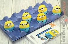 Oua Minion | Cum se vopsesc ouale de Pasti  - Adygio Kitchen #minion #adygio Easter Egg Dye, Egg Decorating, Coasters, Kitchen, Diy, Youtube, Recipes, Character, Cooking