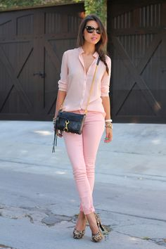 pink top pink jeans