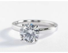 2 Carat Diamond Low Dome Comfort Fit Solitaire Engagement Ring | Blue Nile