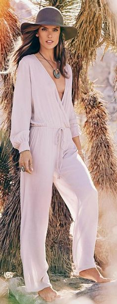 Alessandra Ambrosio bohemian style  Love the pattern, just need to cinch in the neckline.
