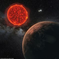 This artist's impression shows the newly discovered planet orbiting Proxima…