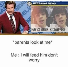 Omg this is so funny hahaha but yet creepy hahaha.... #hayesnoticeme @hayesgrier dont worry mom and dad