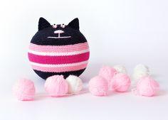 stress relief cat crochet toy