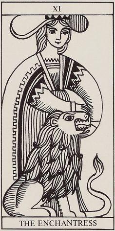 Strength: Rolla Nordic Tarot I want to draw a stoner deck! Major Arcana Cards, Tarot Major Arcana, Lion Tigre, Strength Tarot, Tarot Tattoo, Spooky Tattoos, Sketch Inspiration, Art Graphique, Tarot Decks