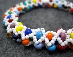Beaded Bangle Bracelet  Dreaming of Hawaii by randomcreative, $35.00