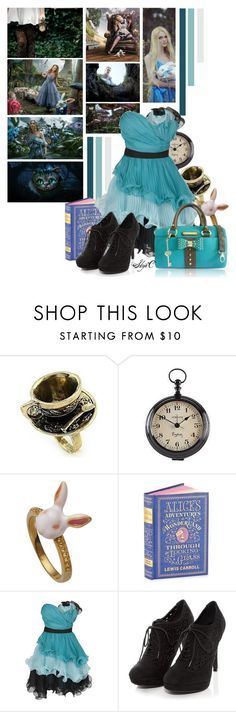 """""""Alice in Wonderland - Disney"""" by rubytyra ❤ liked on Polyvore featuring Disney, Burton, Newgate, ASOS and Anna Smith"""