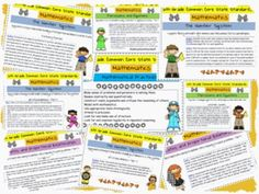 These are the new Common Core State Standards for 6th grade mathematics. This cute and teacher-friendly printable would be great to keep in your ...