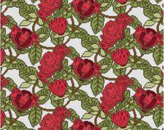 William de Morgan Turtle Tile cross stitch pattern by Whoopicat