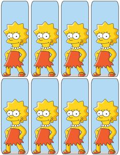 """The Simpsons """"Lisa"""" Bookmarks .... free to use and free to share for personal use. <3"""