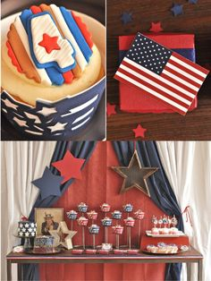 Vintage Americana 4th July Party BBQ   NEW Printable Designs! by Bird's Party