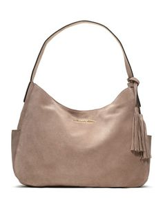 MICHAEL Michael Kors  Large Ashbury Suede Shoulder Bag.