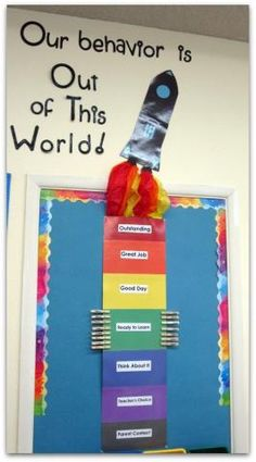 Behavior chart idea - it's nice that students can move up and not just down.