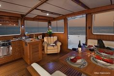 Aft cabin of the Helmsman 43 trawler.