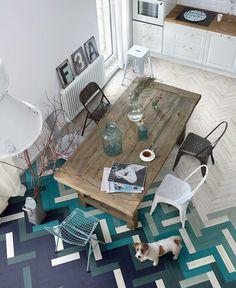 Hardwood Transition with porcelain tiles