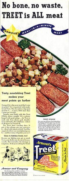 "The ""Treet O'Brien"" Pork Rotator Cuff Wartime Platter of Regret. | The Most Barf-tastic Old Food Recipe Ads"