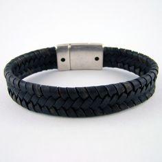 Bracelets de cuir tressés à plat pour Homme : collection Dandy - Made in Bretagne