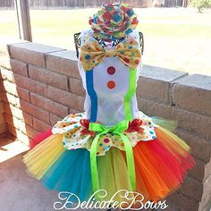 Circus themed outfit clown outfit carnival outfit by delicatebows1
