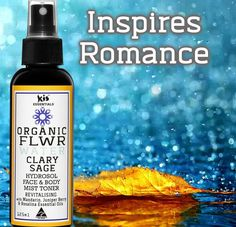 """Give someone you love the gift of an organic product. Free of chemicals.  Kis Clary Sage Flower Water* -""""Revitalising"""" with added essential oils of Mandarin* Juniper Berry* & Rosalina. An Uplifting blend that creates magnetic energy & brings happiness to the heart.  #madeinaustralian #gift #valentine #hydrosol #vegan #inspires #love #natural #face #body #mist #toner #hydrosol #essentialoils #organic #australianmade"""