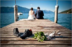 Intimate wedding on lake Garda: an event by Italian Lakes Wedding planner in Lake Garda Italy. Civil wedding ceremony at Lemon Groves in Torri del Benaco castle. Lake Garda Wedding, Dock Wedding, Lakeside Wedding, Lake Tahoe Weddings, Wedding Poses, Dream Wedding, Lake Wedding Ideas, Wedding Shot, Wedding Ceremony