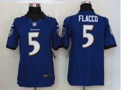 Baltimore Ravens #5 Joe Flacco Purple Limited Jerseys 01