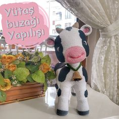 Crochet Cow, Crochet Animals, Crochet Hats, Learning Disabilities In Children, Amigurumi Patterns, Stuffed Toys Patterns, Baby Knitting, Diy And Crafts, Owls